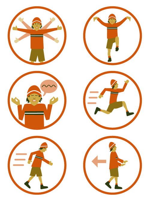 'Be Ready For Your Next Wildlife Encounter' infographic pictograms by KAP.