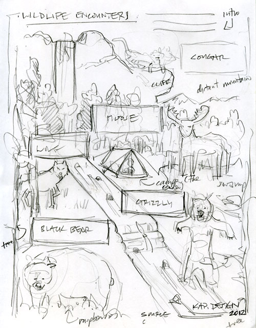 'Wildlife Encounter' infographic sketch by KAP