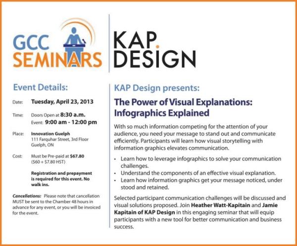 The Power of Visual Explanations seminar by KAP Design, April 23, 2013