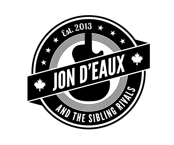 Jon D'Eaux black and white logo by KAP Design