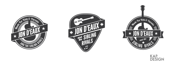 Jon D'Eaux logo concepts by KAP Design