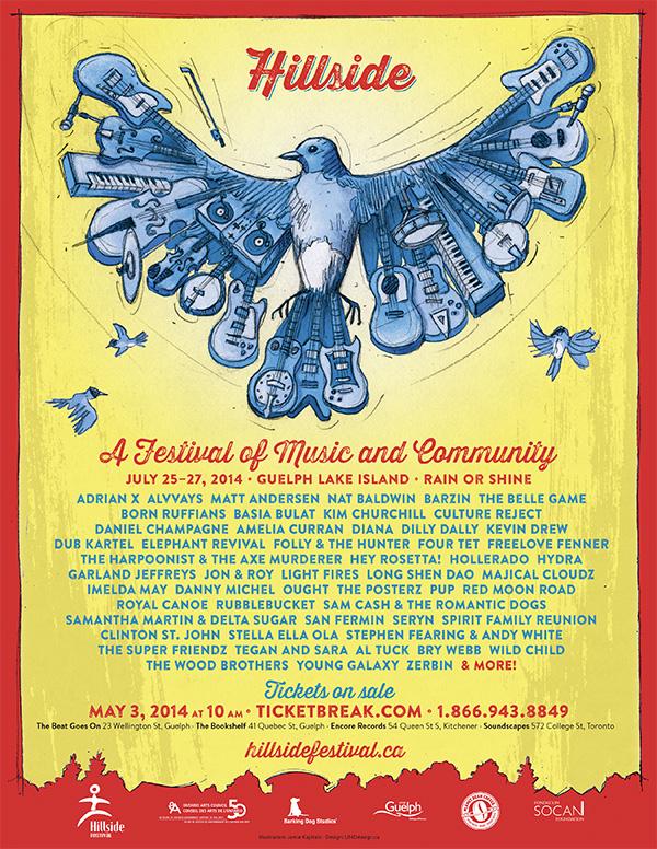 Hillside Festival 2014 poster
