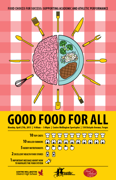 Good Food For All Conference poster by KAP Design.